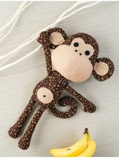 Patrick the Monkey Sewing Pattern http://www.interweavestore.com/patrick-the-monkey-toy-sewing-pattern