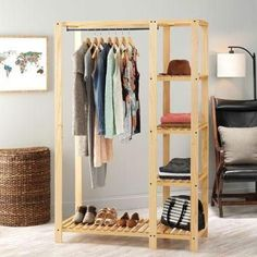 Slat Wood Wardrob