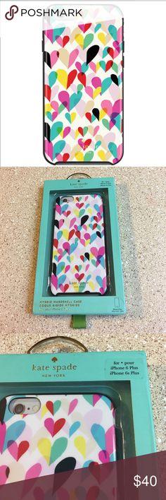 Kate Spade iPhone 6+ hard case NWT Kate Spade iPhone 6+ case.  Hard case. kate spade Accessories Phone Cases