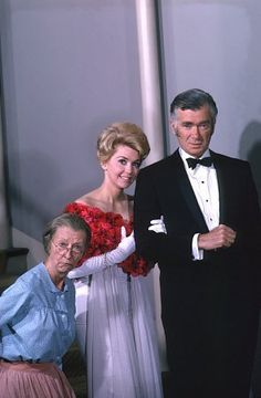 Donna Douglas, Irene Ryan and Buddy Ebsen - on the set of the Beverly Hillbillies