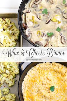 wine and cheese dinner recipes @createdbydiane