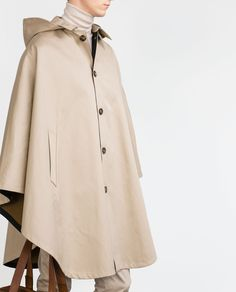 HOODED CAPE-View all-Outerwear and Trench Coats-MAN | ZARA United States
