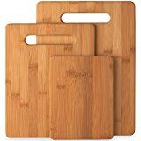 #4: Bamboo Cutting Board 3-Piece Set of 100% Natural Bamboo Cutting Boards By Bambüsi By Belmint