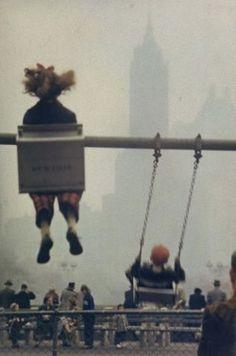 Ernst Haas (1921-1986 Austrian) • Swinging In New York 1953