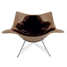 Fredericia Stingray gungstol Valnöt - danskdesign.nu Stingray, Eames, Chair, Furniture, Home Decor, Woodwind Instrument, Decoration Home, Room Decor, Home Furnishings