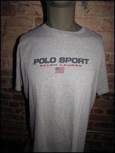 Vintage 90's Gray Ralph Lauren Polo Sport Shirt by RackRaidersVintage