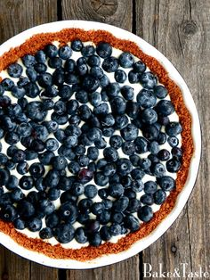 Bake&Taste: Tarta z białą czekoladą i borówkami