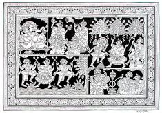 Kalyan Joshi - Ganesh Utsav @ Phad Chitra : Soul of Rajasthan | #StoryLTD #Indian #art #Rajasthan I Available at Storyltd.com