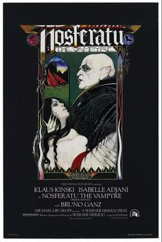 'Nosferatu'. A self-proclaimed vampire movie junkie  I can say I've never seen this. But I do have the poster.