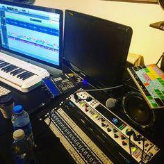 Shiny things in progress. #bars #beats #hiphop #production #musicstudiio #recordingstudio