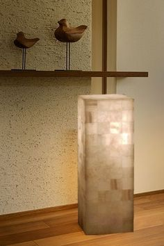 Natural Stone Lamp Onyx Alabaster White Rock Modern Square