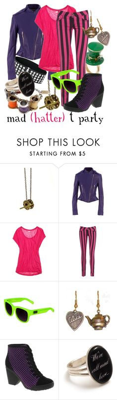 """""""Mad T Party Hatter"""" by princesschandler ❤ liked on Polyvore featuring Labyrinth, Maison Rabih Kayrouz, American Eagle Outfitters, AX Paris, Linda Farrow and ASOS"""