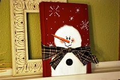 Snowman Book. Tutorial on turning an old book into an art piece.