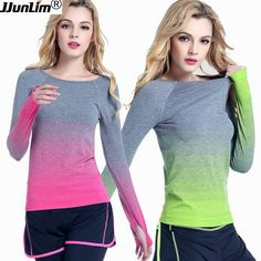 7c7b9b720a0 Autumn Winter Fitness Yoga Top t Shirt Women Quick Dry Long Sleeve Running  Shirt Female Workout Gym Shirts Sport Jacket Women-in Yoga Shirts from  Sports ...