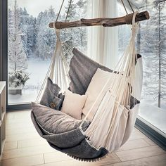 Hammock chair for home and garden, for interior and relax.- Hammock chair for home and garden, for interior and relax. by HammockChairStudio… Hammock chair for home and garden, for interior and relax. by HammockChairStudio on Etsy - My New Room, My Room, Swinging Chair, Rocking Chair, Dream Rooms, My Dream Home, Diy Home Decor, Bedroom Decor, Bedroom Ideas