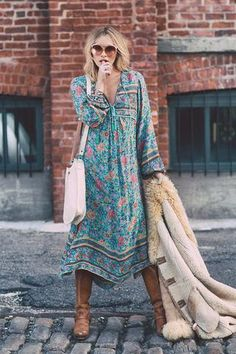 Folk Town Boho Maxi Dress