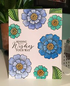 So, I told you that I was obsessed with water color lately. Today I used my Inktense Pencils and my Aqua Painter Brush . Card Tags, I Card, Altenew, About Me Blog, Pencil, Watercolor, Projects, Ideas, Watercolour