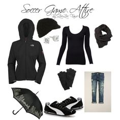 """Soccer Game Attire"" by zeezeefaire on Polyvore"