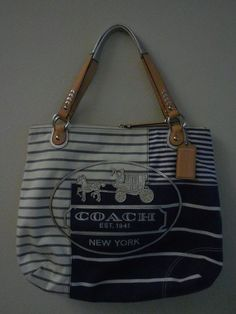 340ada2dd42 Authentic Coach Canvas Tote Bag
