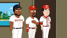 L-R David Ortiz/Jimmy Rollins & of course Joey Votto on the Cleveland Show 3.17.13