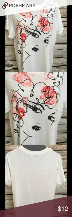 LANE Bryant 22/24 T-Shirt NWOT Abstract design with women's face. NWOT SIze 22/24 Black mark through label to prevent returns to store or catalog Lane Bryant Tops Tees - Short Sleeve