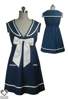 Chic Star - Bow Tie Sailor (Blue) Dress - Buy Online Australia Beserk