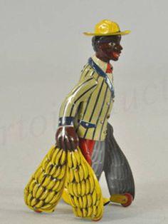 Majolica Banana Man Figurine