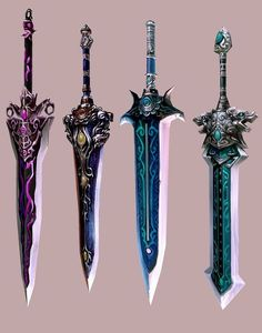 Fantasy Sword, Fantasy Weapons, Fantasy Armor, Samurai Weapons, Anime Weapons, Armor Concept, Weapon Concept Art, Design Reference, Art Reference