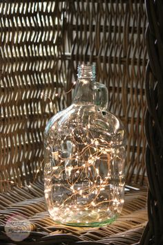 Make your very own growler lamp with a clean growler and fairy lights!