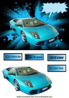 BLUE LAMBORGHINI on Craftsuprint - Add To Basket!