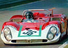 1970 Alfa Romeo T 33/3 Alfa Romeo (2.993 cc.)   Piers Courage  Andrea de Adamich