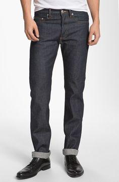 A.P.C. 'Petit New Standard' Slim Straight Leg Selvedge Jean (Indigo) #Nordstrom