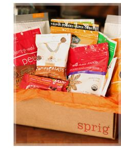Sprig is a monthly subscription service that provides gluten free, organic and vegan nutritional snacks curated by people passionate about a healthy lifestyle.