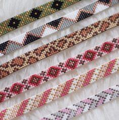Loom Band Patterns, Loom Bracelet Patterns, Bead Crochet Patterns, Bead Loom Bracelets, Bracelet Crafts, Beaded Jewelry Patterns, Beading Patterns, Seed Bead Crafts, Seed Bead Jewelry
