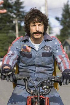 Andy Samberg as wanna-be Evel Knieval Rod Kimble in the movie Hot Rod