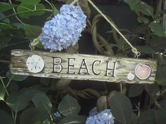 Rustic Fence Post Beach Sign OneOfAKind by BrownsThreadWorks, $35.00