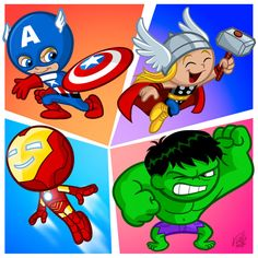 little avengers | The Little Avengers by *Fabvalle on deviantART