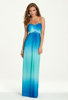 Beaded Ruched Bodice Strapless Dress from Camille La Vie and Group USA