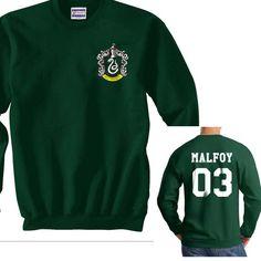 Slytherin Crest and Malfoy 03 on back Harry potter Crewneck Sweatshirt - Meh. Geek - 1