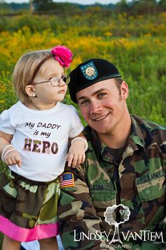 Military Welcome Home Outfit - My Daddy is My Hero Camouflage Set