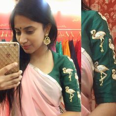 We are not flamingo nuts but we are flamingo crazy. Can t get enough of these Flemingo embroideries from our atelier ashwinireddy arbride stylediaries babypink blushpink instafashion indianfashion indianstyle fashion saree 04 January 2017