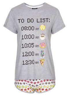 Photo 1 of Emoji Pyjama Set Emoji Love, Cute Emoji, Cotton Sleepwear, Cotton Pyjamas, Topshop Pyjamas, Emoji Pyjamas, Robes Vintage, Cute Pajamas, Pajama Top