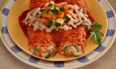 Enchiladas Enchiladas have a bad reputation.With a minor modification, you can enjoy without the guilt. Skip the cheese and order it with red sauce. Enchiladas are usually loaded with cumin, a nutritional powerhouse with high iron content and cancer prevention properties. And delicious fact: enchiladas are actually lower in calories than many other traditional Mexican dishes, so if you have numbers on the brain, this entrée is a good choice.  7 Latin Dishes with Exciting Health Benefits