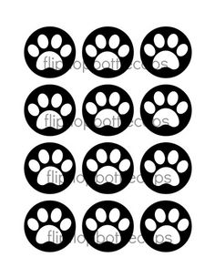CCT15 INSTANT DOWNLOAD Black and White Paw by flipflopdigital, $2.25