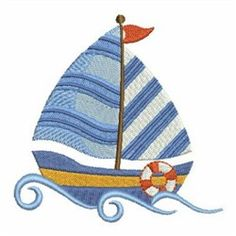Stripped Sails embroidery design from embroiderydesigns.com