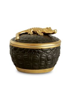 Gold Crocodile Candle by L\'Objet at Neiman Marcus. NMF13_H4PGH, $95. for my friend Dori.