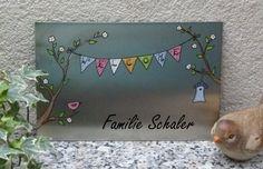 Tür- & Namensschilder - Türschild ♥♥♥Wimpelkette♥♥♥ - ein Designerstück von KirSchenrot bei DaWanda