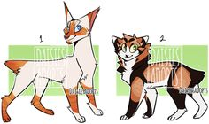 Auctions by DaisiesAdopts on DeviantArt Learn To Draw Anime, Warrior Cat Drawings, Cat Bedroom, Cats With Big Eyes, Warrior Cats Art, Colorful Animals, Cat Design, Dog Art, Cool Cats