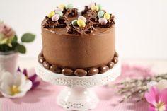 Cake By Mary: Påsktårta - Chokladtårta med fågelbo