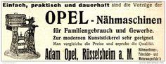 Original-Werbung/ Anzeige 1910 - OPEL NÄHMASCHINEN / ADAM OPEL - RÜSSELSHEIM…